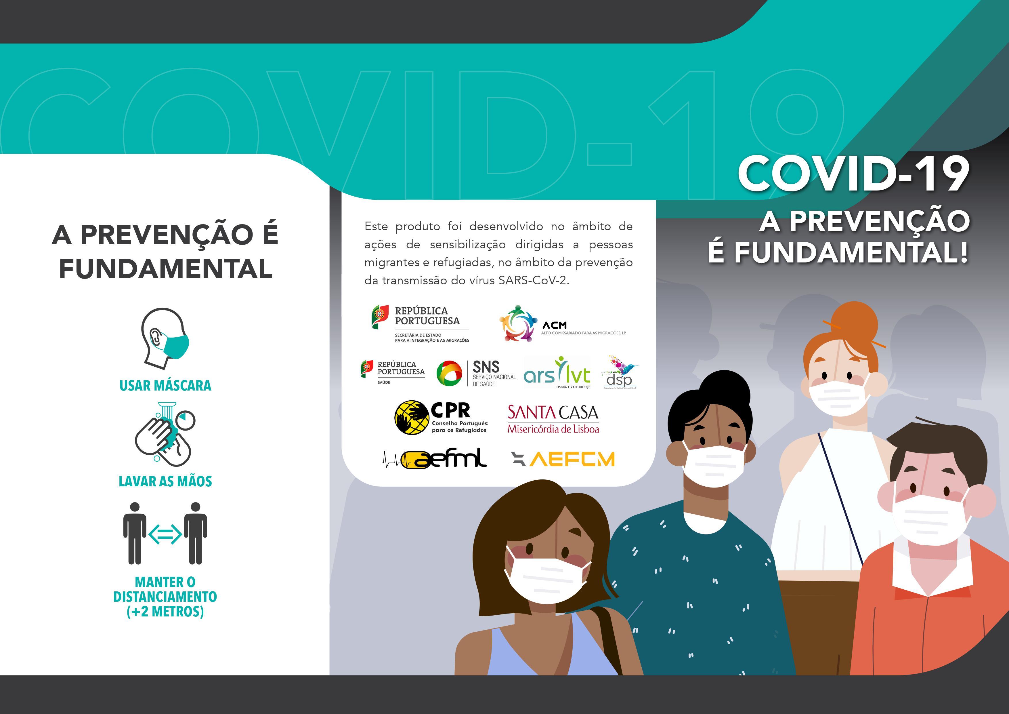 Flyer Covid 19 A prevenção é fundamental PT imagem 1