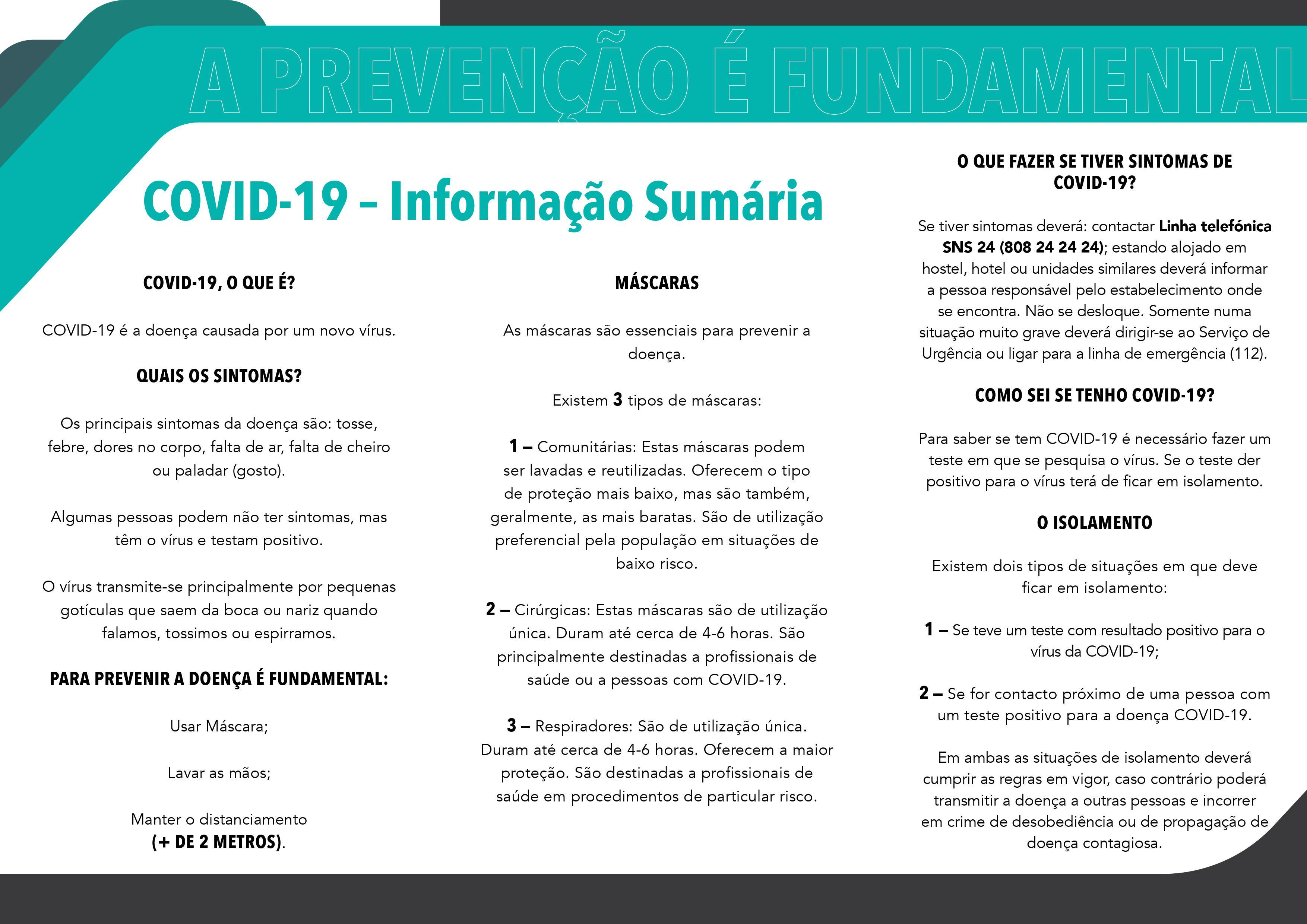 Flyer Covid 19 A prevenção é fundamental PT imagem 2